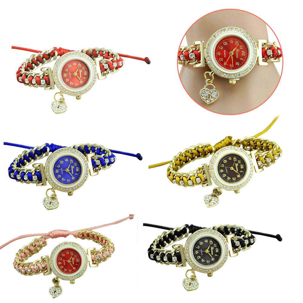 women watches brand luxury 2016 wrist diamond hot sale Women Braid Dress Quartz Watches Crystal Diamond Bracelet Watches(China (Mainland))