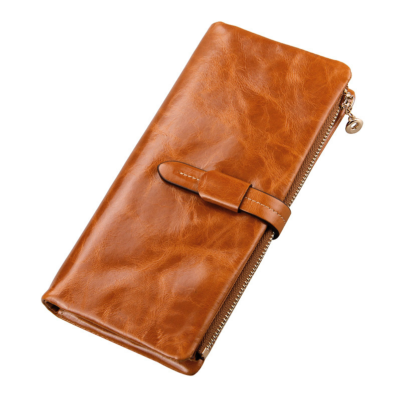Hot Sale Genuine Leather Women Wallet Fashion Brand 100 Real Cowhide Wallet Long Design Clutch Female