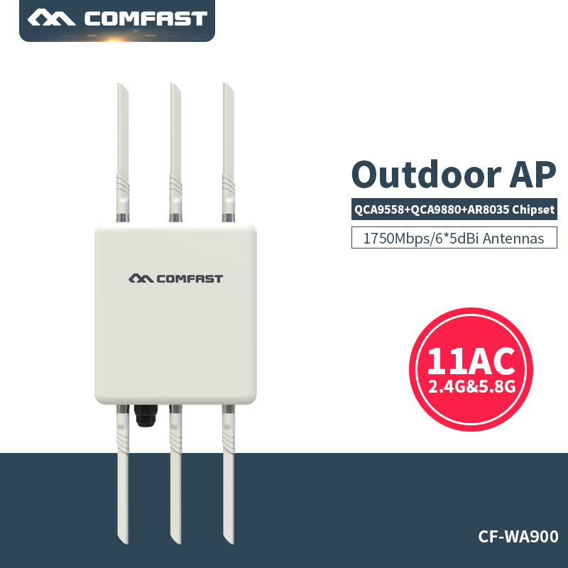 Outdoor AP Router 1750Mbps Engineering Signal Amplifier WiFi Booster 802.11AC 5.8G+2.4G omnidirectional CPE wi-fi Access Point(China (Mainland))