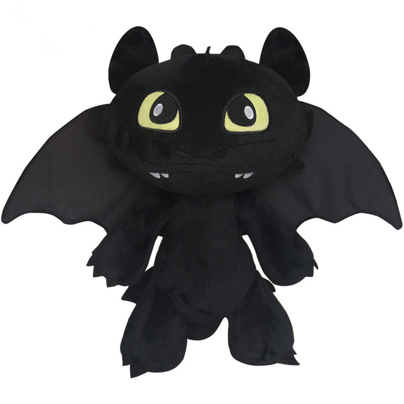 Free Shipping Hot Toys How To Train Your Dragon 2 Plush Toy Toothless Dragon Stuffed Animal Dolls Movie Toys For Children(China (Mainland))