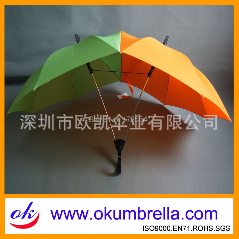 Factory-made double-pole double couple umbrella Straight umbrella Auto logo can be customized(China (Mainland))