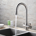 100 Solid Brass Super Big Style Free Swivel 3 Way Tap 5 Yr Warranty Mixer Tap