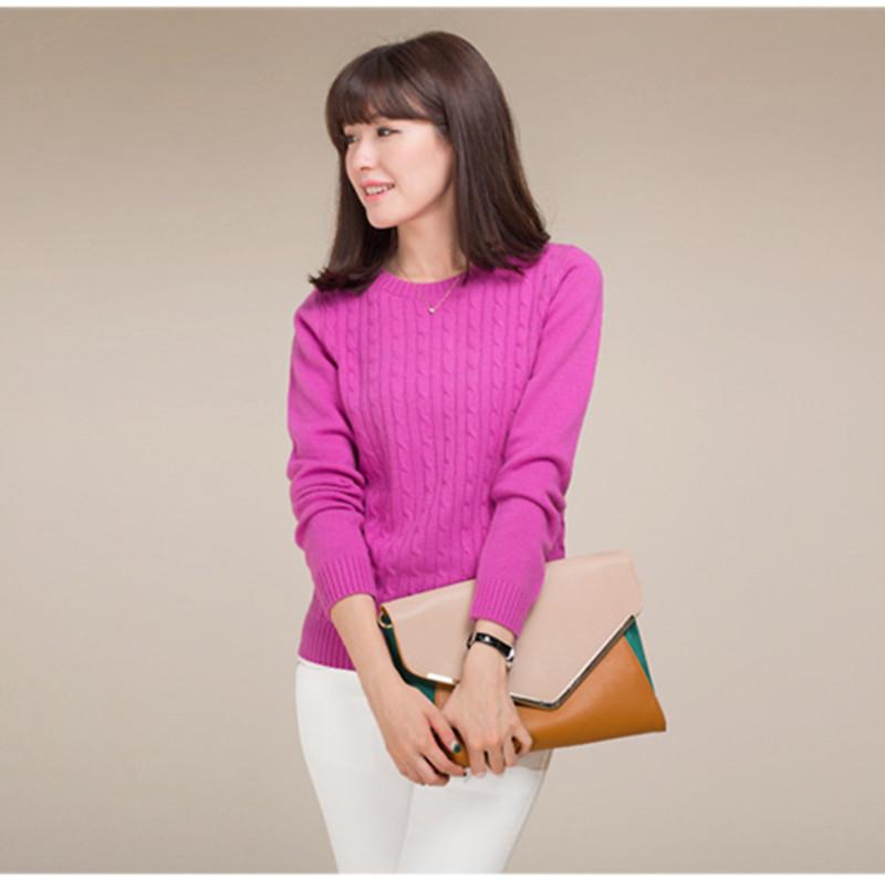 Autumn New Product Hemp Flowers - Women's Cashmere Sweater Korean Slim Sleeve wool Sweater Head Bottoming(China (Mainland))