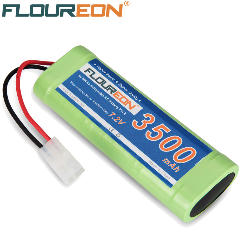 FLOUREON 7.2V 3500mAh High Capacity SC*6 Cells Rechargeable Ni-MH Battery Pack Tamiya Plug for RC Control Car Battery(China (Mainland))