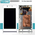 White Full LCD Display Touch Screen Digitizer Assembly with Frame Replacement for Sony Xperia M2 S50H