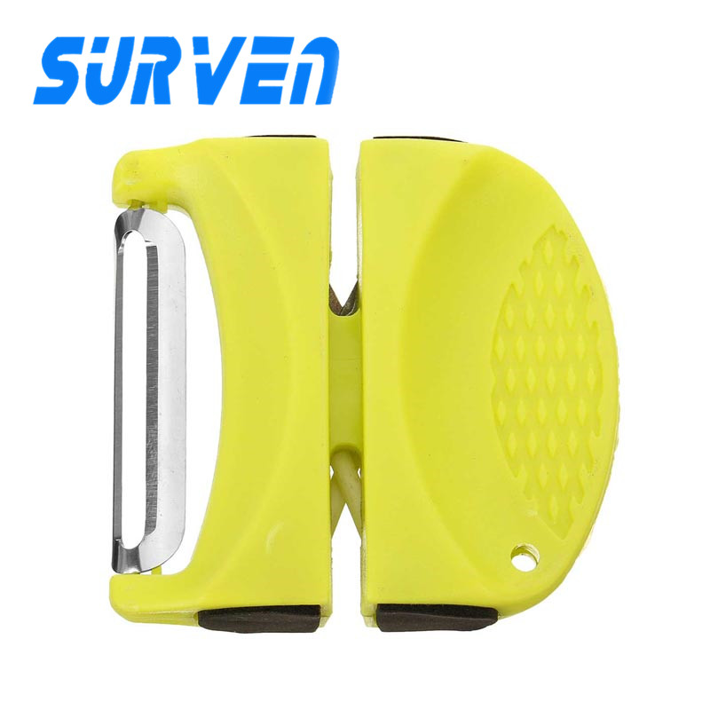 Portable Professional Hanging Design Knife Sharpener Ceramic Rod Tungsten Steel Camp Kitchen Sharpening Tool Practical Whetstone(China (Mainland))
