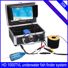 "2015 New 1000TVL 30 meter HD Underwater Camera Fish Finder System WF01-30 7"" TFT Monitor with Sun-visor IP68(China (Mainland))"