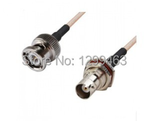 RF Coaxial cable assembly BNC male to BNC female RG316 15CM(China (Mainland))