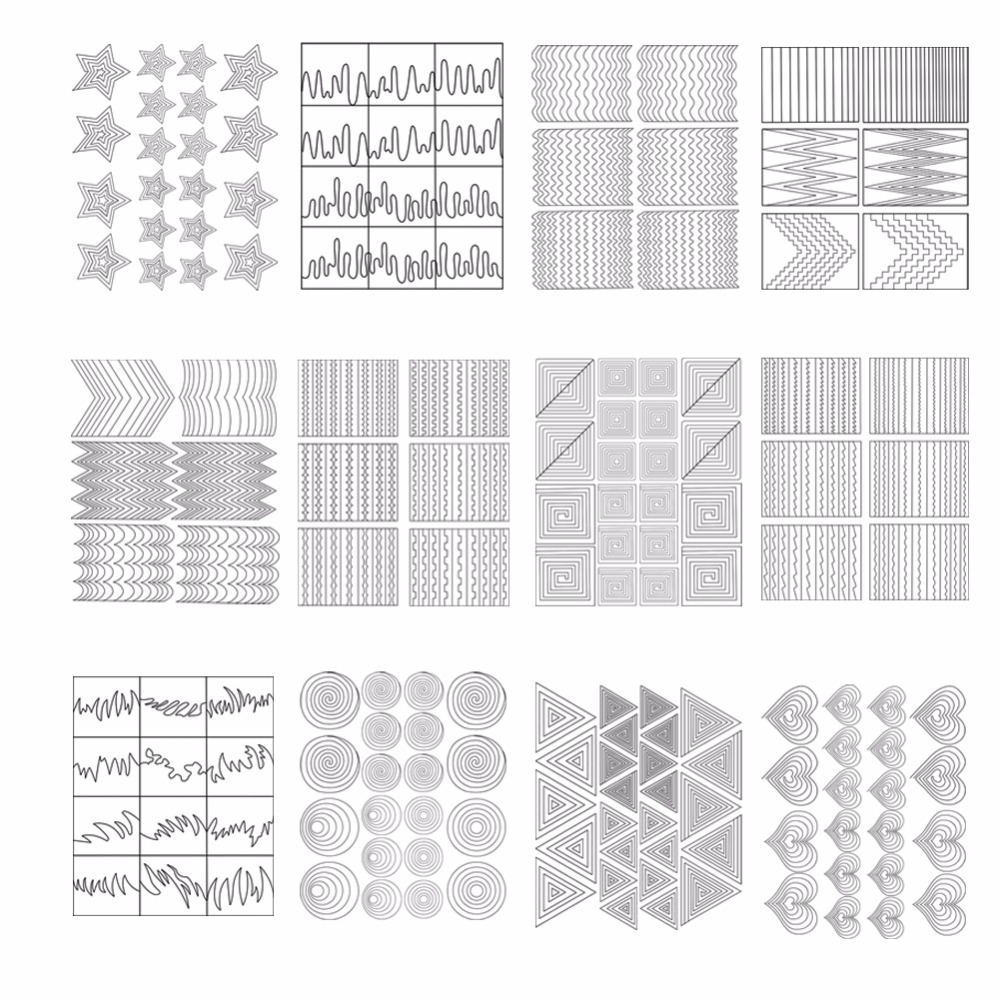 12Pcs Nails Sticker Stencil French Tips Guide For UV Acrylic Nail Art Manicure Tools Form Fringe DIY Sticker Decal(China (Mainland))