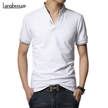 Buy Hot Sale 2017 New Summer Fashion Mens T Shirts V-Neck Slim Fit Short Sleeve T Shirt Mens Clothing Trend Casual Tee Shirt M-5XL for $10.99 in AliExpress store