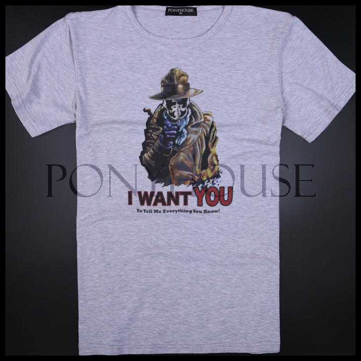 Гаджет  2015E COMIC RORSCHACH THE WATCHER Luo Xia rye T-shirt short sleeve male None Изготовление под заказ