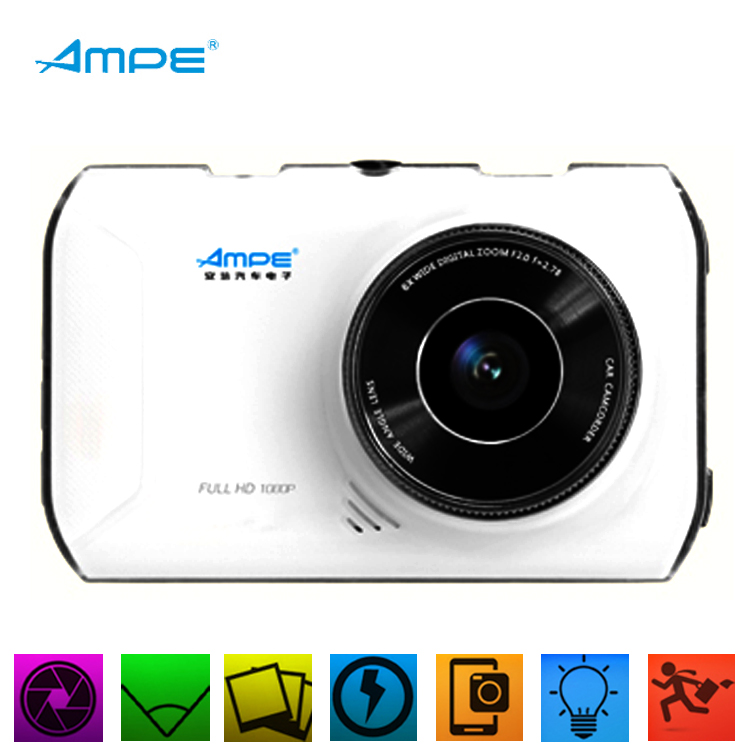 "Ampe Car DVR AT66A 3"" Full HD G-Sensor Car Camera WDR GPS Night Vision Novatek A308F DashCam Video Recorder DVR GPS(China (Mainland))"