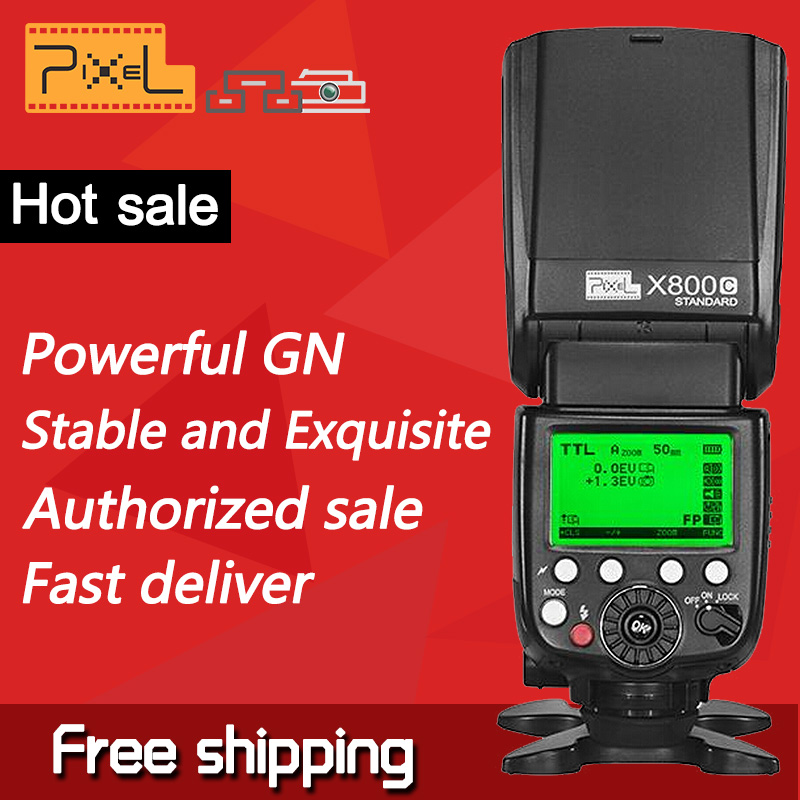 Pixel X800C standard flash speedlite ,with GN60 ETTL HSS 1/8000S SYNC for CanonVSYongNuo,compatible with all Canon DSLR cameras(China (Mainland))