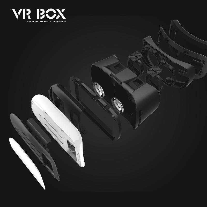 Google cardboard HeadMount VR BOX 2 0 Version 3D Glasses for 3 5 6 0 Smart