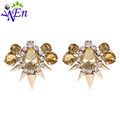 sale new arrived Retail 2015 wedding White rhinestone clip topaz flower shoe clips fashion decoration accessories