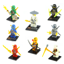 NINJA Building Blocks Minifigures Cole Kai Jay Lloyd Skylor Zane Ninja Toys Figures Kids Bricks - Corn Toy Store store