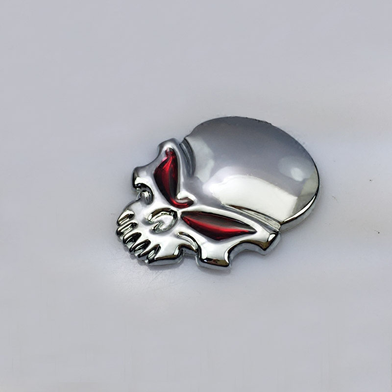 Chrome 3D Car Motorcycle Body Badge Skull Skeleton Emblem for Dodge Chrysler SRT(China (Mainland))