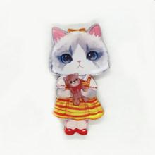 Vendita Kawaii Acrilico Nuovo Delle Ragazze del Gatto Delle Donne Spille FAI DA TE Regalo di Studenti Carino Bambini Badge Spille Abbigliamento Ornamento Dei Monili(China)