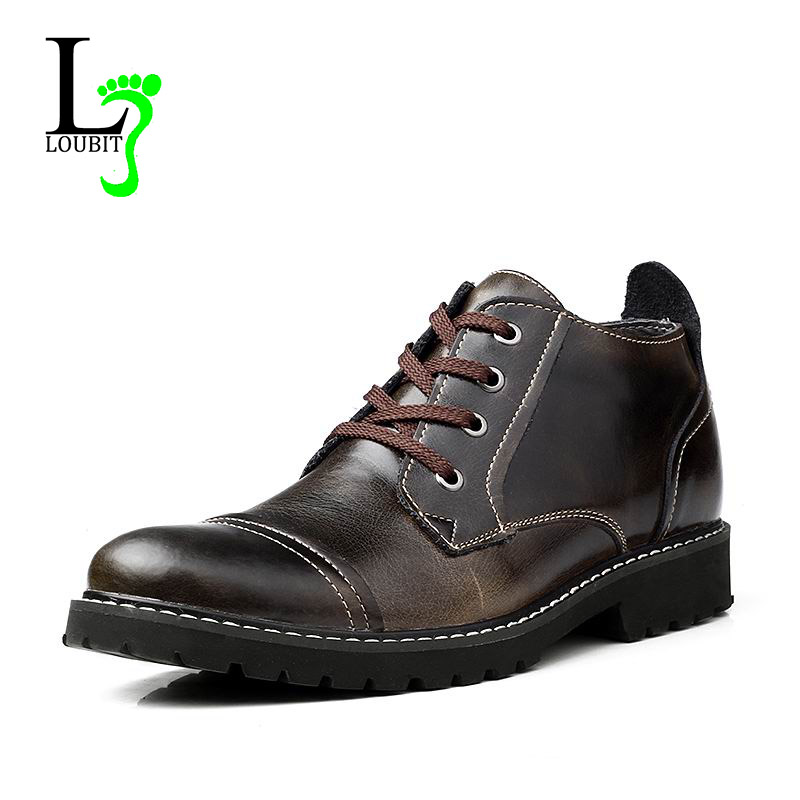 Men's Boots 2016 Winter Warm Shoes Top Quality Genuine Leather Men Shoes With Fur Fashion Snow Boots(China (Mainland))
