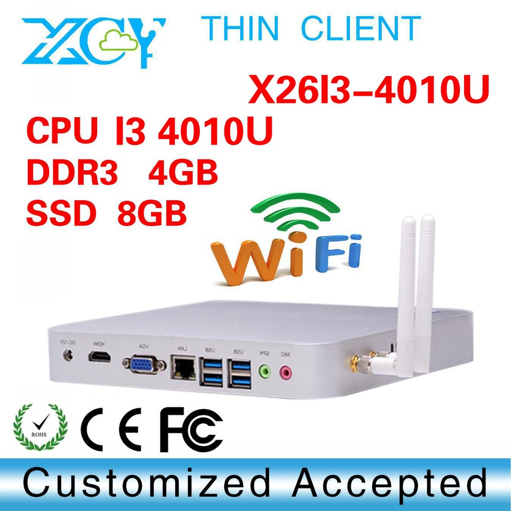 Hot selling X26-i3 4010u Intel Dual core Multi computing Thin clients linux mini pc vga 4gb ram 8gb ssd(China (Mainland))