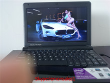 Free Shipment 10 inch Mini Laptop Intel Atom 1.80GHz 1GB DDR3 Ram160GB HDD WIFI Windows8 Webcam