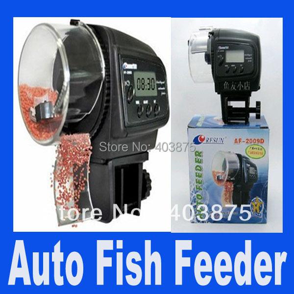 Digital Automatic Aquarium LCD display Fish Auto Feeder with Aquarium Food Fish Feeder Timer auto pet feeder(China (Mainland))