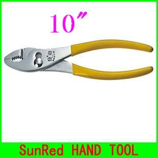SunRed BESTIR taiwan original high carbon steel 10inch slip joint plier hand tool,NO.10503 wholesale and retail freeshipping(China (Mainland))