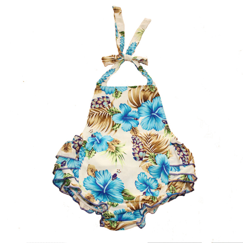 Ruffled Flower Baby Rompers Baby Girl Jumpsuit Cotton Toddler Diaper Cover Pants Enfant Clothes Onesie Baby Sunsuit Photo Props(China (Mainland))