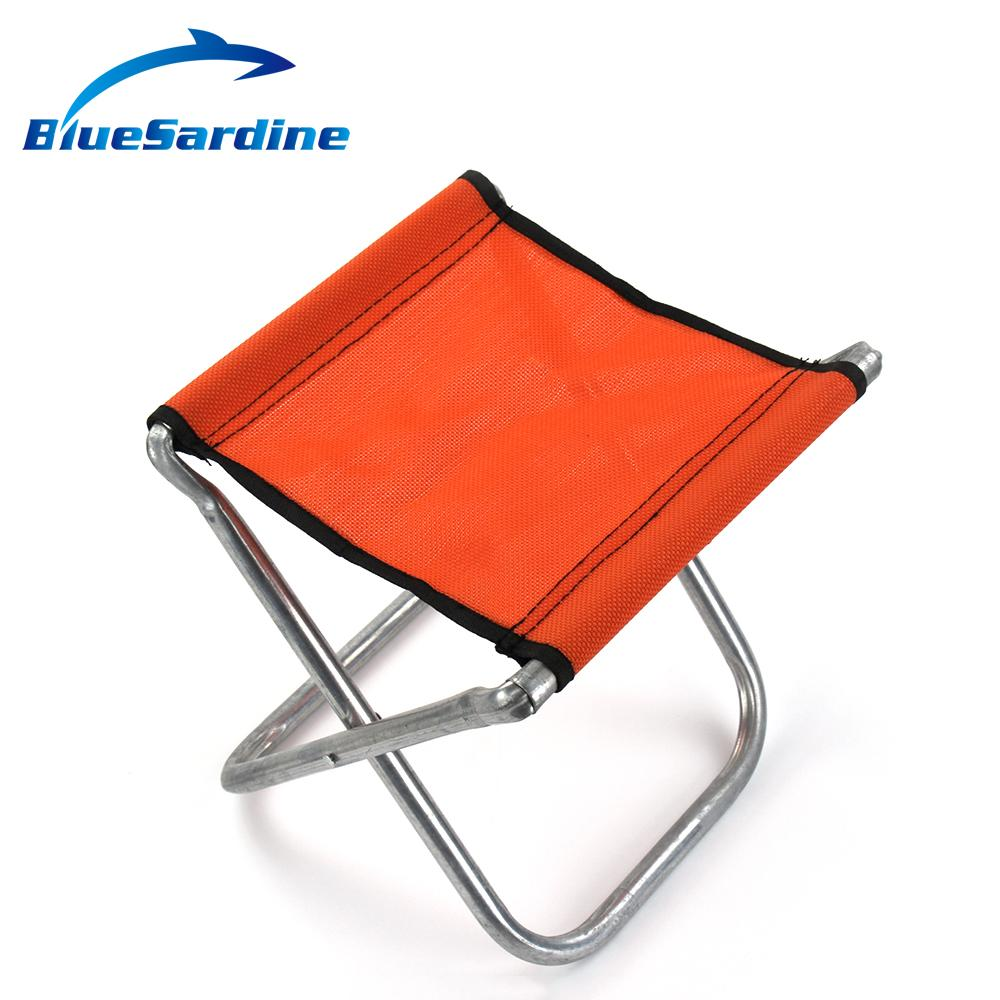Random Color Fishing Chair Outdoor Camping Seat Portable Folding Chairs in Fi