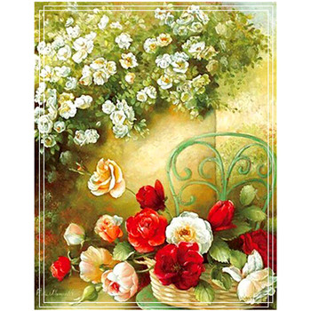 DIY diamond painting cross stitch Needlework diamond mosaic flowers diamond embroidery red rose pattern hobbies and crafts