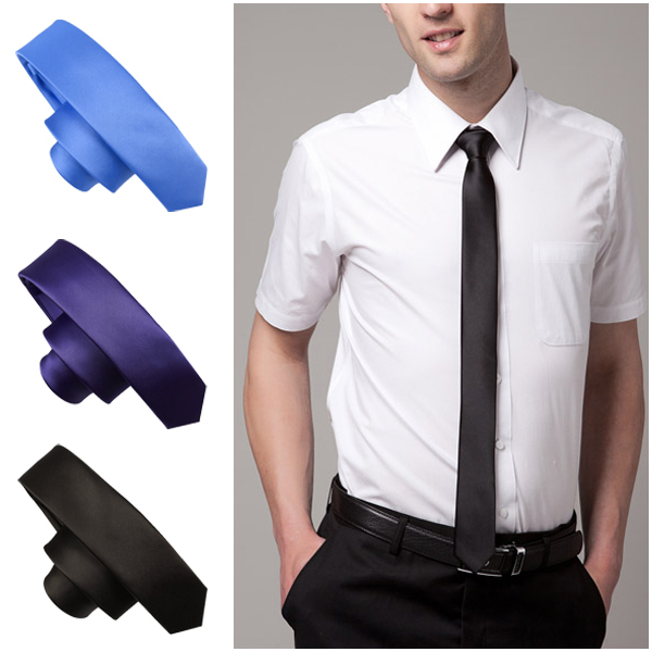 2015 New Style Fashion! Formal Wedding Party Groom Men's Solid Color Gravata Slim Plain Men Tie Necktie 20 Colors(China (Mainland))