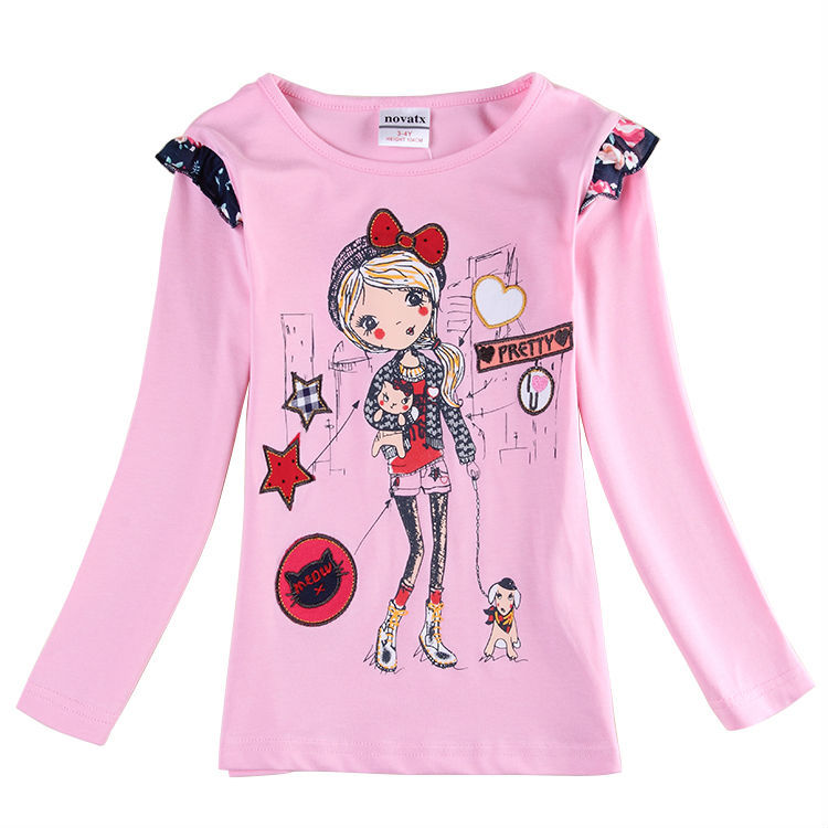 Girls T-Shirts Nova Spring casual Long Sleeve T Shirt for Girls Kid All for Children Clothing and Accessories F5711Y<br><br>Aliexpress