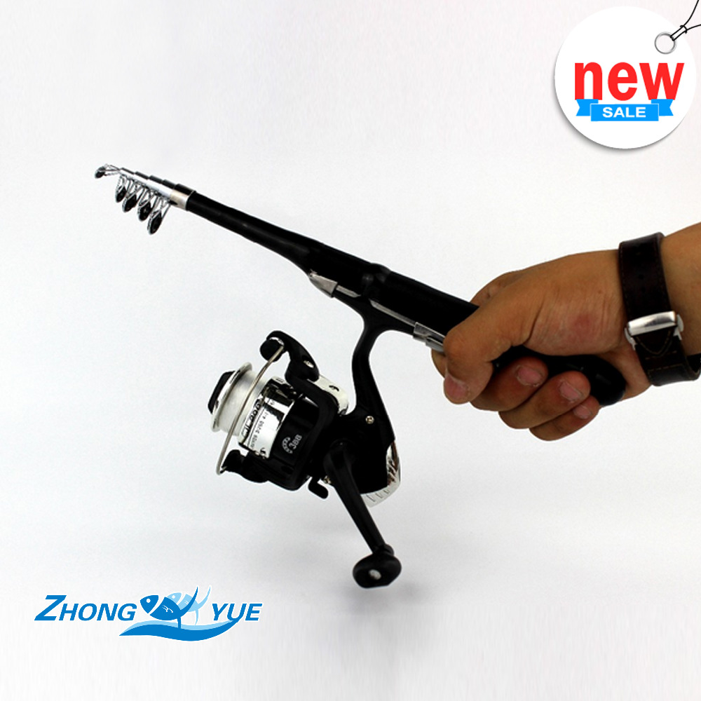 1.0M 1.2M Stream Rod Portable Foldable Travel Spinning Fishing Rod Carbon with 200Series Sea Fishing Reel Rod Combo Fishing Set(China (Mainland))