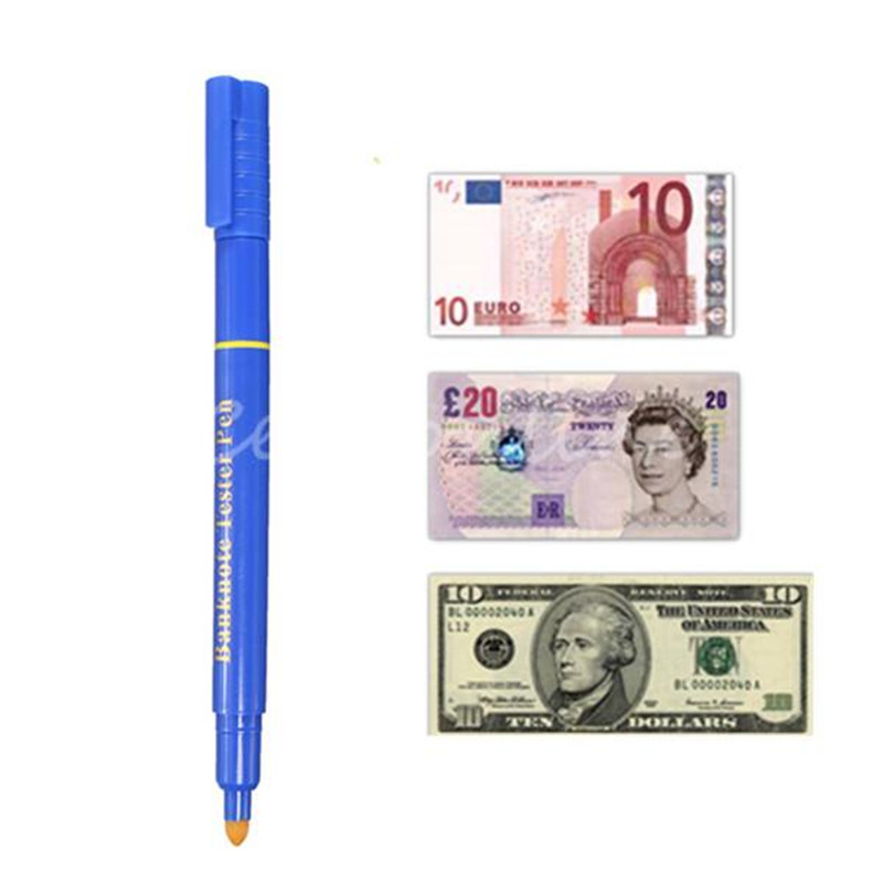 Hot Sale 4 PCS Useful Banknotes Detector Money Counterfeit Fake Forged Money Bank Note Detector Tester Marker Pens Money Tester(China (Mainland))