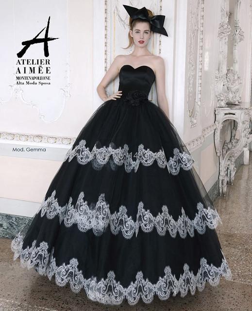 Готический черный свадьба платья многослойное юбка сердечком без бретелек велюр мяч свадебные платья Vestido де Noiva novia-принцеса