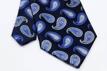 NT0259 Blue Navy Pasiley Man s Classic Business Wedding Party Tie Fashion Jacquard Woven Silk Polyester