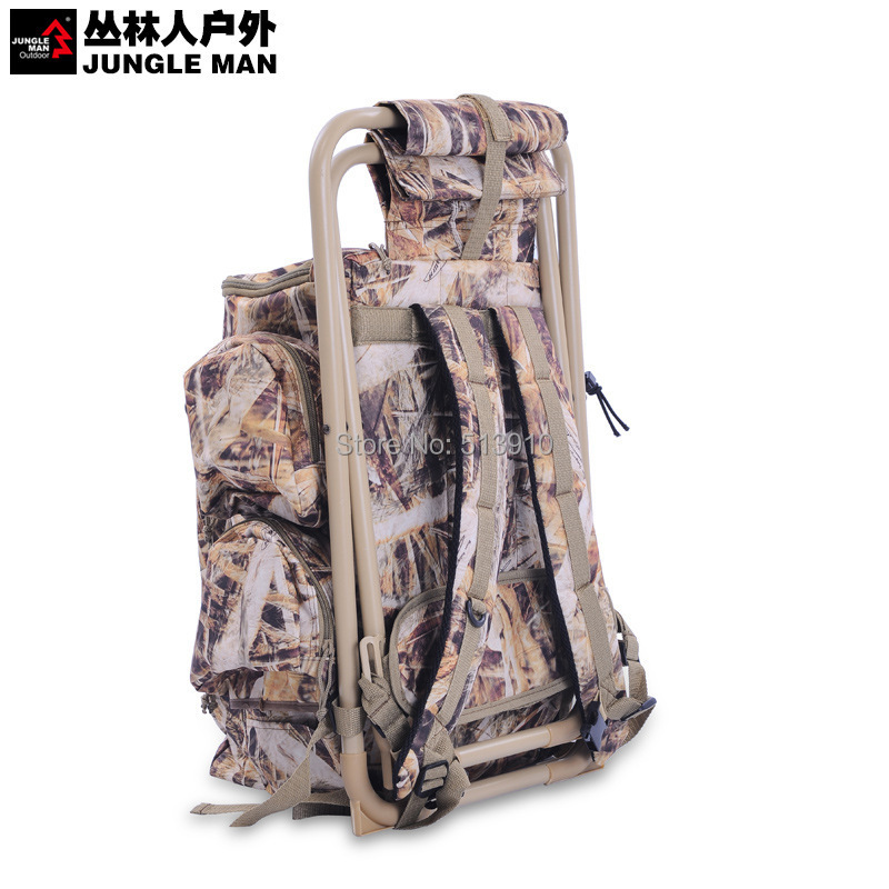 M Mill folding chair bag bionic camouflage hunting backpack with fishing chai