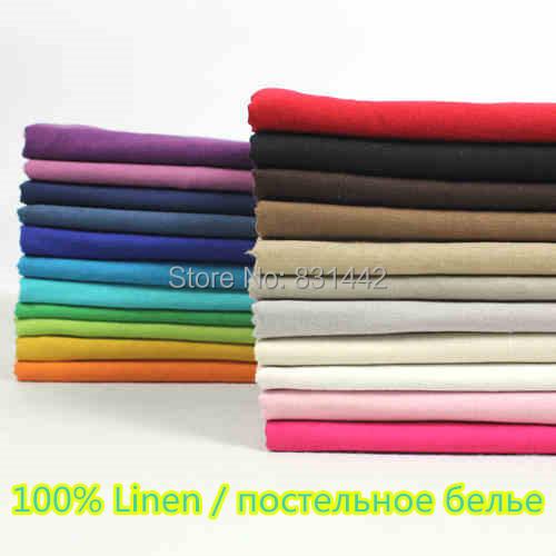 100% Linen Skirts dress decoration Pajamas fabric silk Textile sewing printed telas tissu - May Star Trading Co., Ltd. store