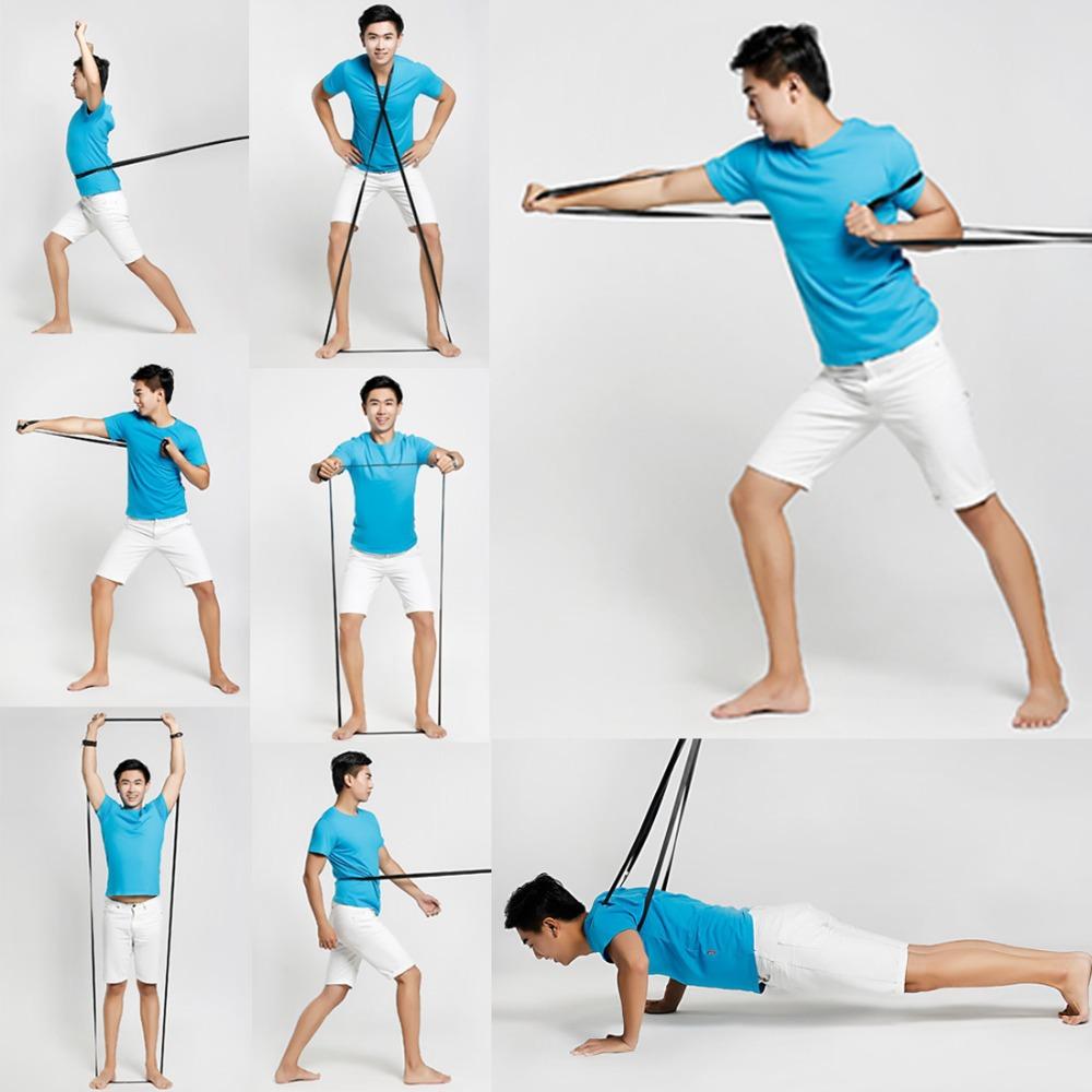2015 Fitness Resistance Bands Exercise Bands Elastic Strength Training Rope Pilates Yoga Pull Rope Elastic Band 4 Type(China (Mainland))