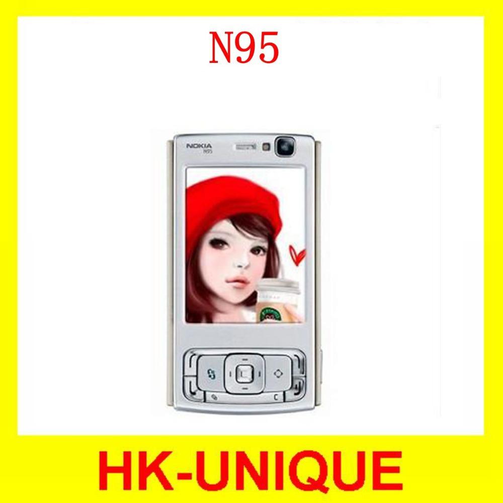 Original Unlocked Nokia N95 WIFI GPS 5MP camera 2.6 inch WIFI 3G network Mobile Phone FREE SHIPPING 1 Year Warranty In Stock(China (Mainland))