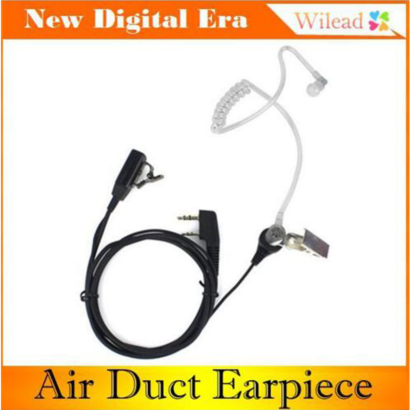 10 PCS Hot Sale 2-Pin Air Duct Earpiece Headset Noise Reduction Concealment Earphone for QUANSHENG WOUXUN HYT TYT BAOFENG(China (Mainland))