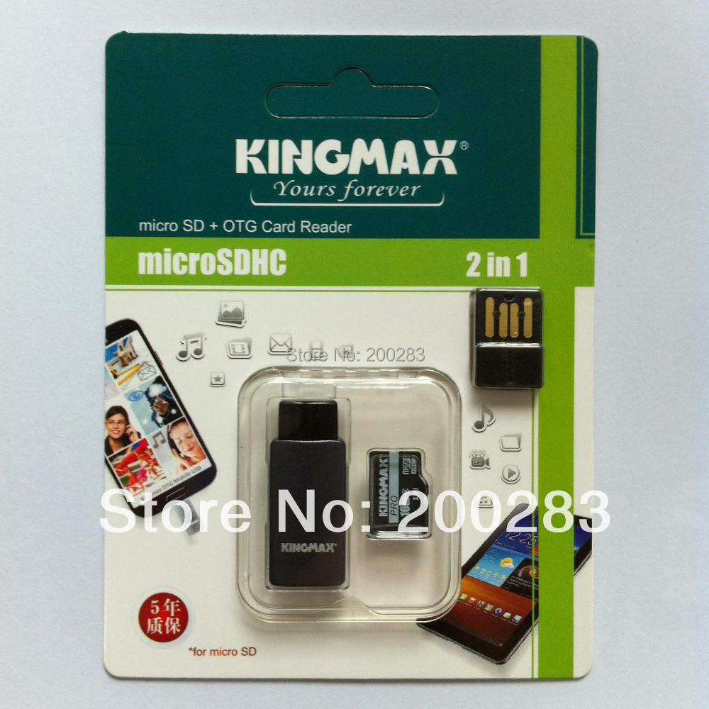 New 2014 Genuine KINGMAX High Speed Micro SD/SDXC Pro TF Mobile Card with SD Card Adapter (16GB/Class 10) Free Shipping(China (Mainland))