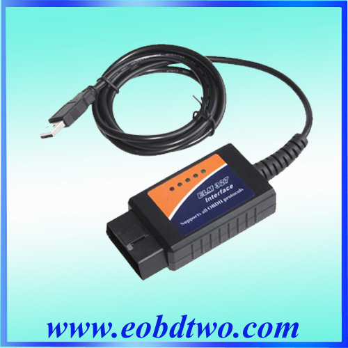 Good Quality for ELM 327 usb obd2 interface support all OBD II protocols+100% 1 Year Warranty(China (Mainland))