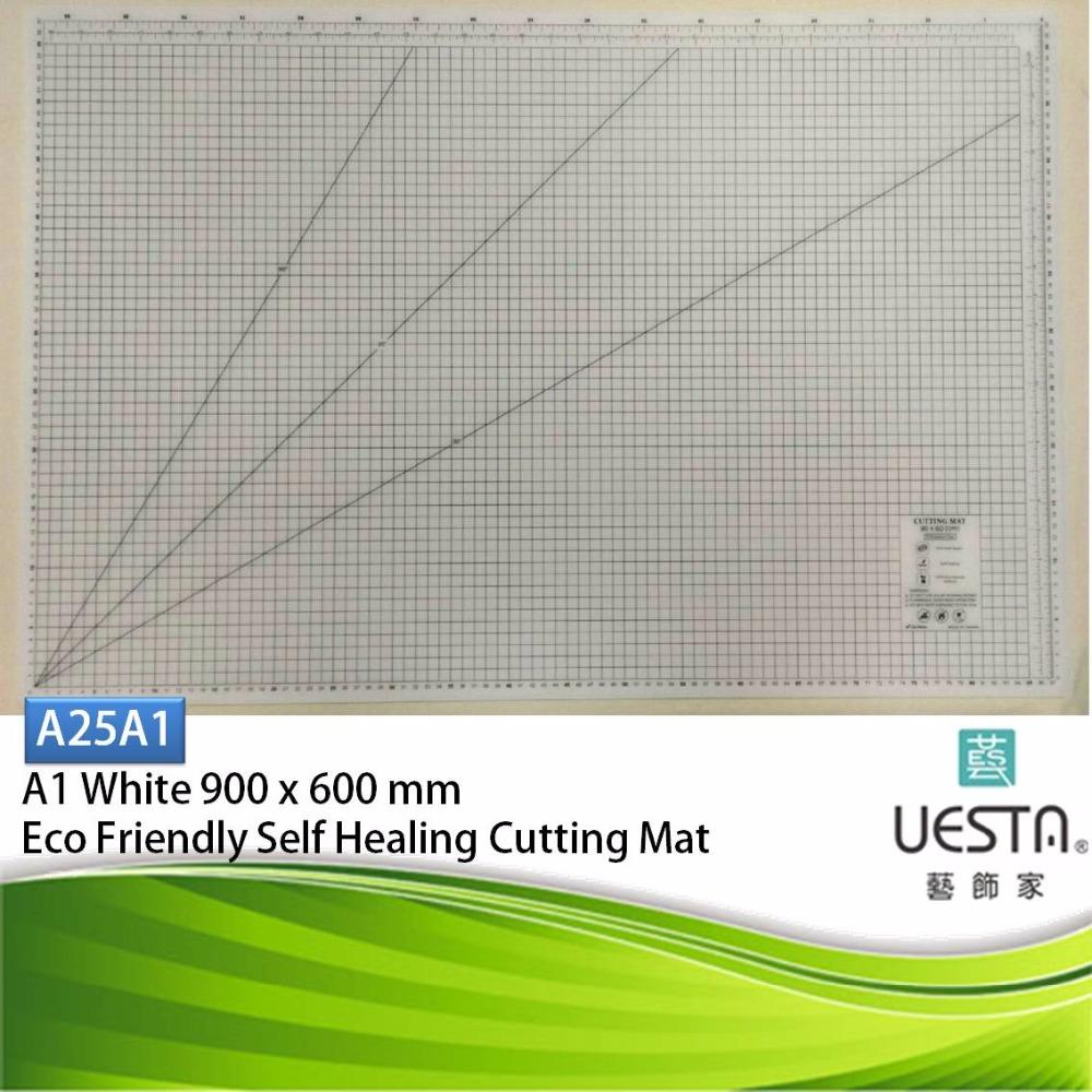 White 2.5 mm Rectangle Self Healing Eco Friendly TPE Cutting Mat A1 90x60 cm 36x24 inch<br><br>Aliexpress