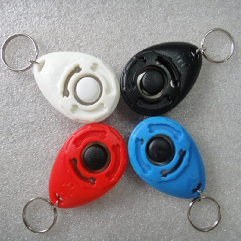 1 Pcs New Dog Pet Clicker Dog Training Trainers With Key Chain Pets Supplies(China (Mainland))