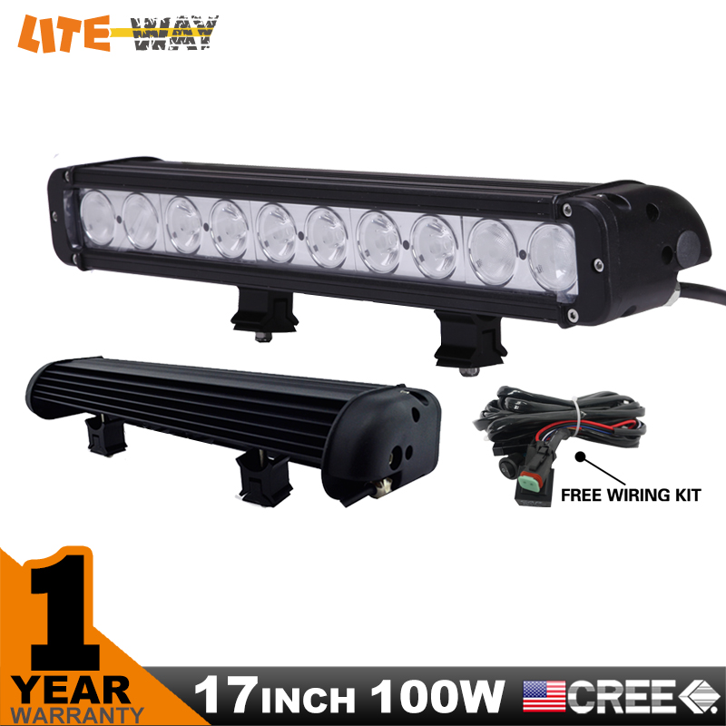 17 INCH 100W CREE LED LIGHT BAR DRIVING COMBO BEAM FOR OFFROAD TRACTOR ATV 4x4 SUV SAVED ON 120W - Ningbo Lite Way Car Accessories Co.,Limited store