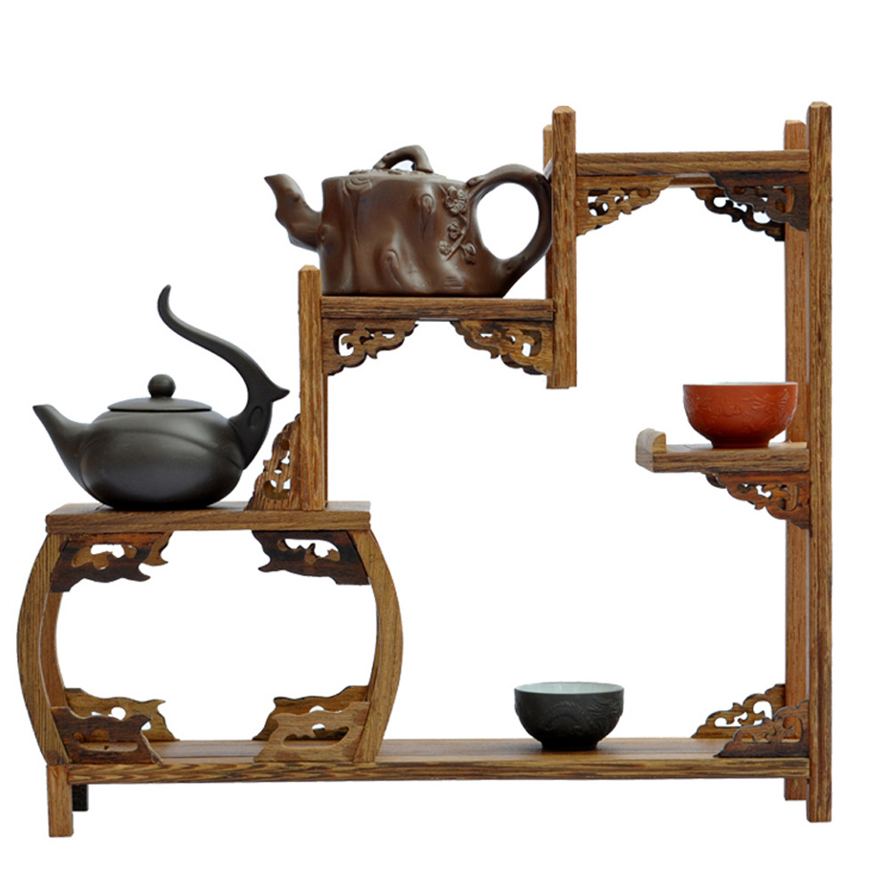 Ming and Qing furniture mahogany wenge side drum curio shelf Shelf antique jewelry swing frame factory direct(China (Mainland))