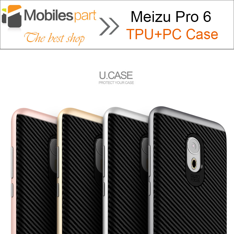 Meizu Pro 6 Case Ipaky Style High Quality PC+TPU Case with Frame Shock-proof Case Back cover for Meizu Pro 6 Smartphone