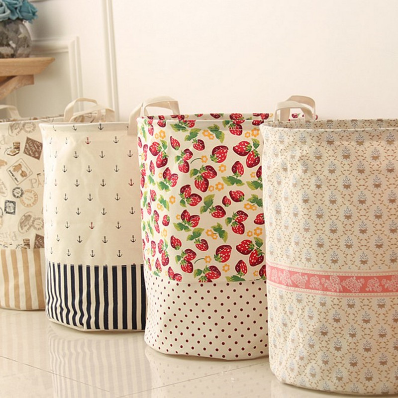 The new cotton&linen color stitching Storage barrels/Storage Basket for storing snacks/toys/clothes/dirty clothes/other debris(China (Mainland))