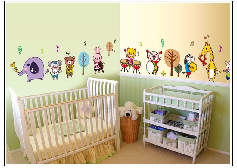 7155-y animal band put children in kindergarten decorative wall sticker removable waterproof wholesale direct(China (Mainland))